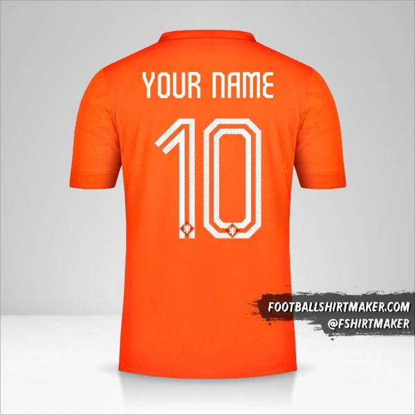 Netherlands 2014/15 jersey number 10 your name