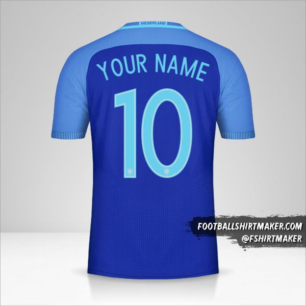 Netherlands 2016 II jersey number 10 your name