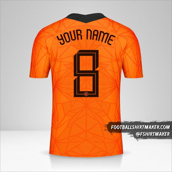 Netherlands 2020/2021 jersey number 8 your name