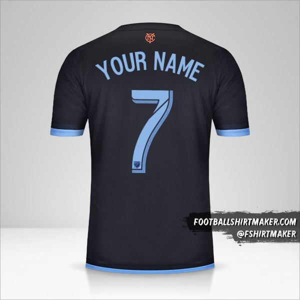 New York City FC 2015 II jersey number 7 your name