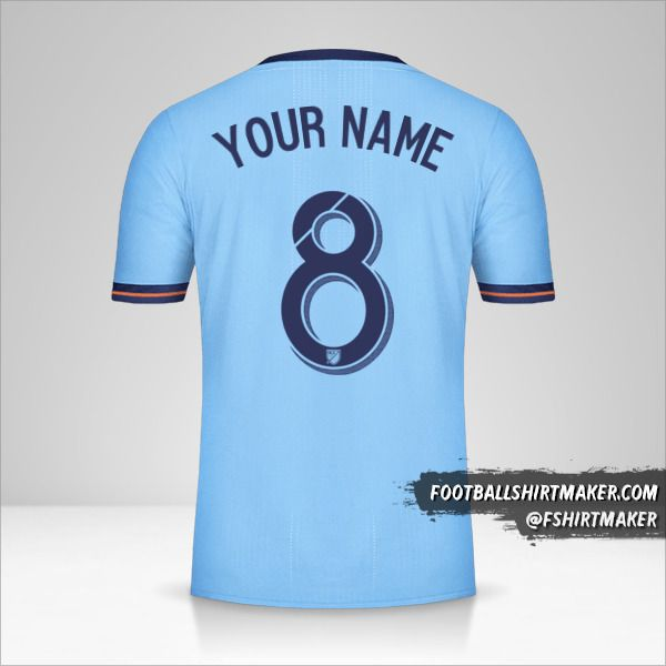 New York City FC 2017/18 jersey number 8 your name