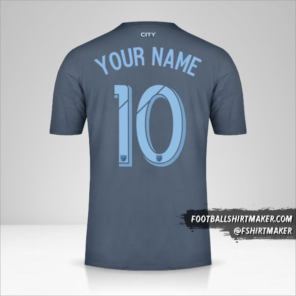 New York City FC 2018/19 II jersey number 10 your name