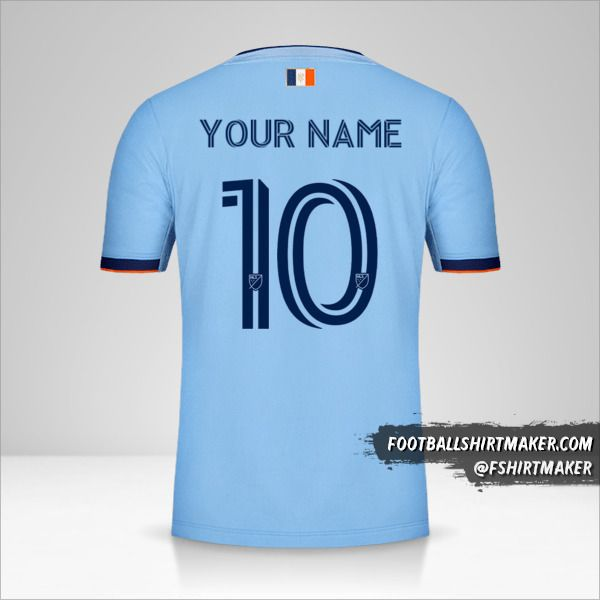 New York City FC 2020 jersey number 10 your name