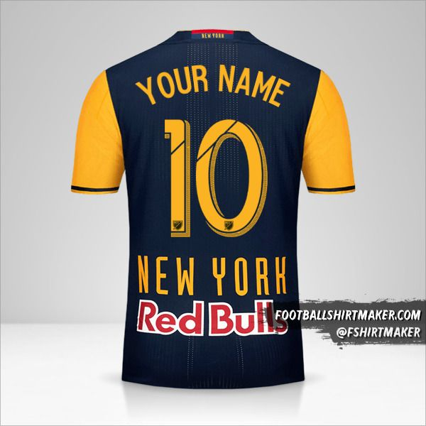 New York Red Bulls 2016/17 II jersey number 10 your name