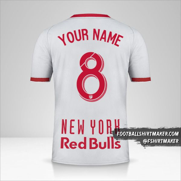 New York Red Bulls jersey 2019 II number 8 your name