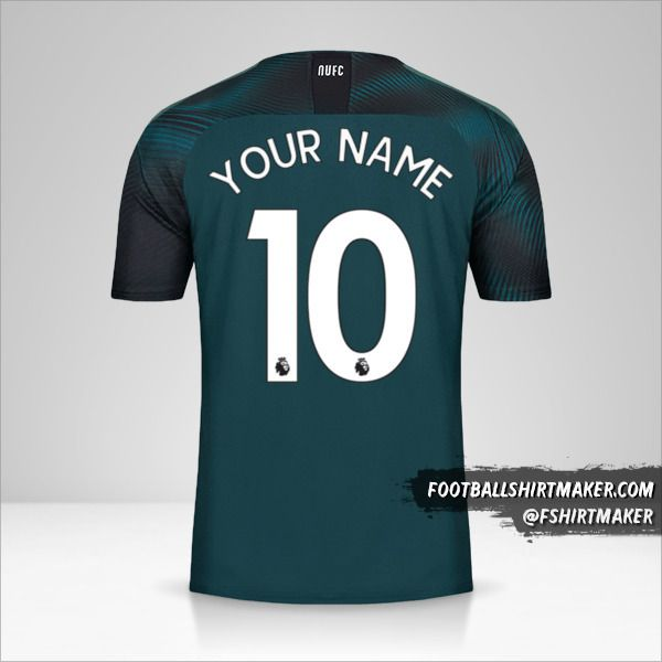 Newcastle United FC 2019/20 II jersey number 10 your name