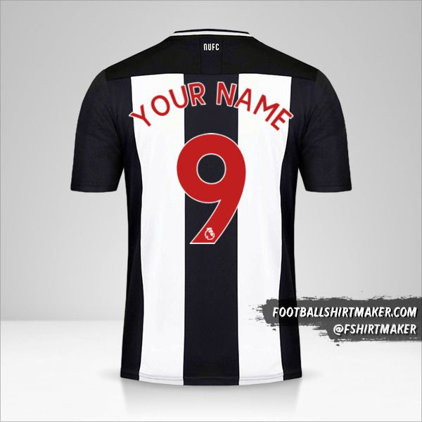 Newcastle United FC jersey 2019/20 number 9 your name
