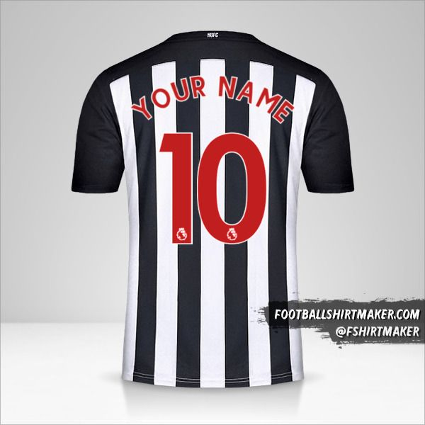 Newcastle United FC 2020/21 jersey number 10 your name