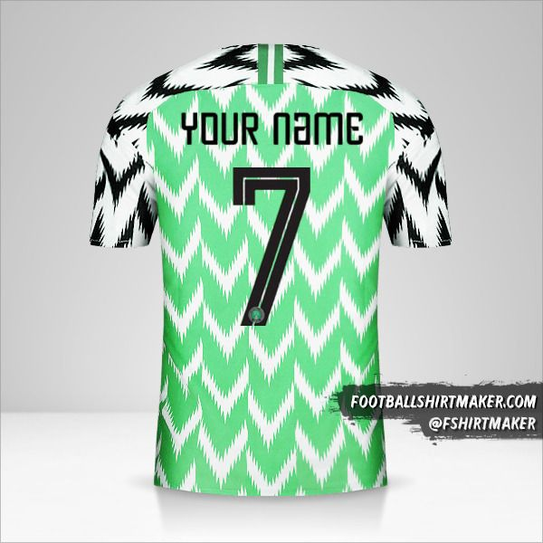 Nigeria jersey 2018 number 7 your name
