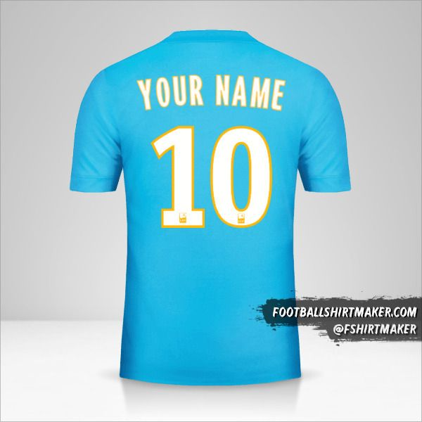 Olympique de Marseille 2017/18 II jersey number 10 your name