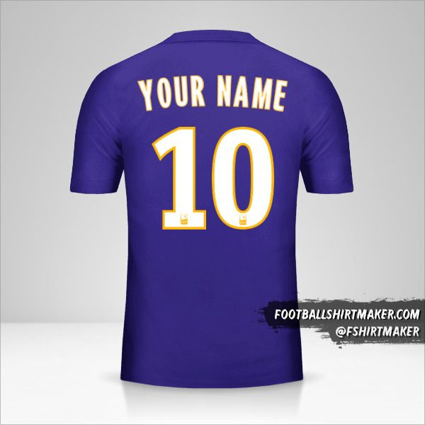 Olympique de Marseille 2017/18 III jersey number 10 your name