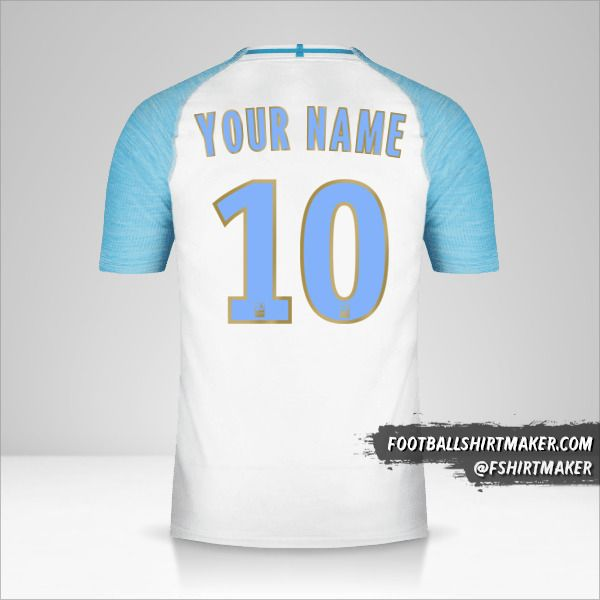 Olympique de Marseille 2018/19 jersey number 10 your name