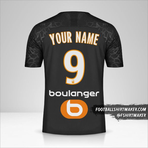 Olympique de Marseille 2019/20 III jersey number 9 your name