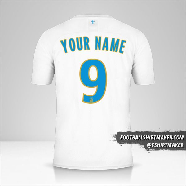 Olympique de Marseille 2019/20 jersey number 9 your name