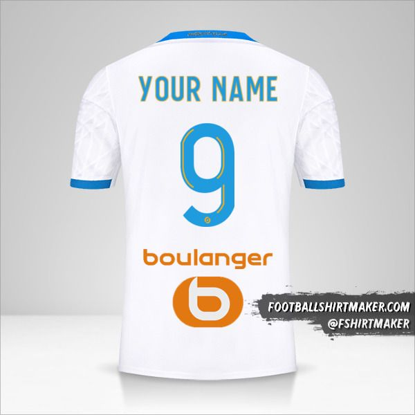 Olympique de Marseille 2020/21 jersey number 9 your name