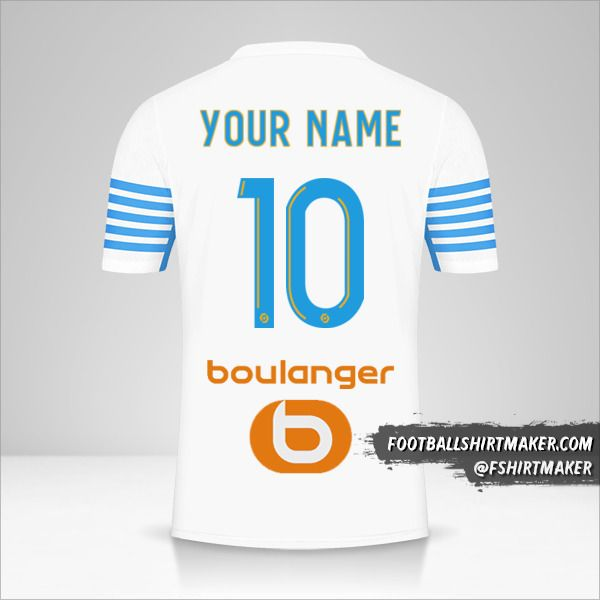 Olympique de Marseille 2021/2022 jersey number 10 your name