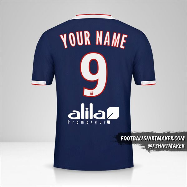 Olympique Lyon 2019/20 II jersey number 9 your name