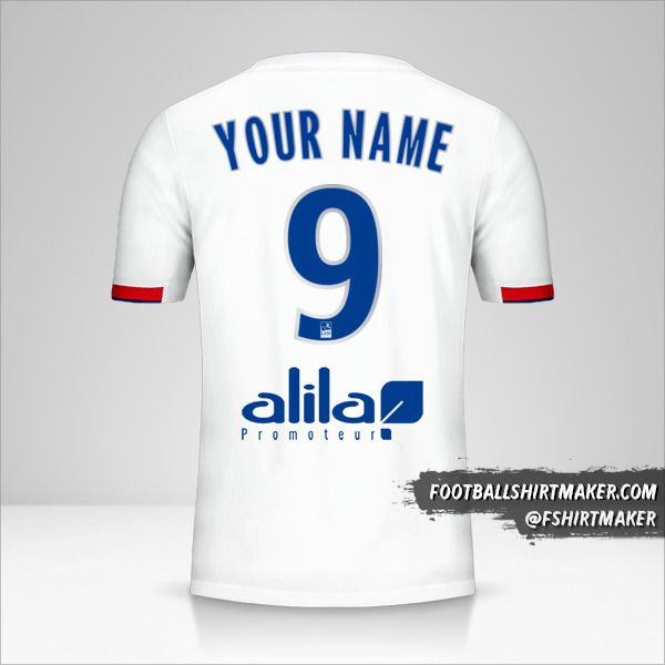 Olympique Lyon 2019/20 jersey number 9 your name