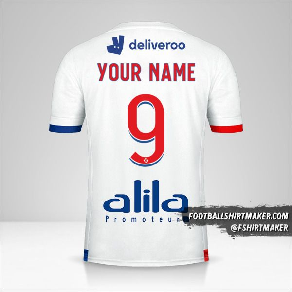 Olympique Lyon 2020/21 jersey number 9 your name
