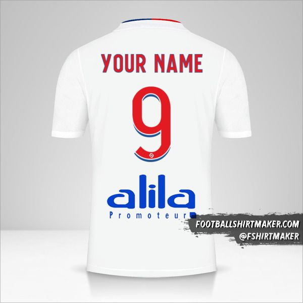 Olympique Lyon 2021/2022 jersey number 9 your name