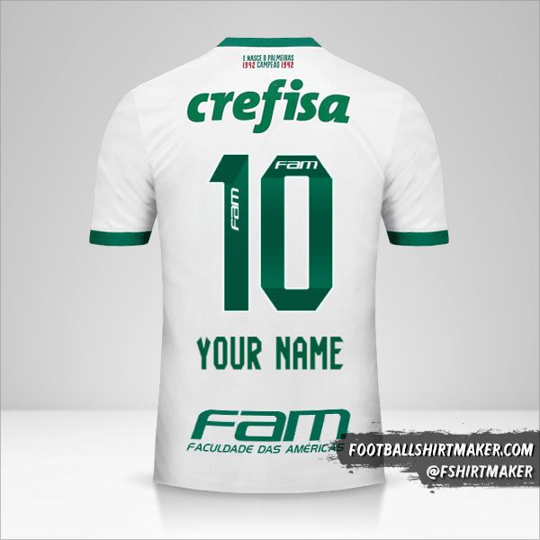 Palmeiras 2017 II jersey number 10 your name