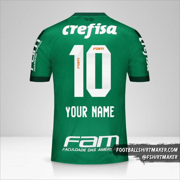 Palmeiras 2017 jersey number 10 your name