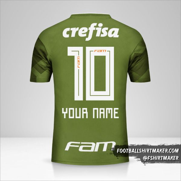 Palmeiras 2018 III jersey number 10 your name