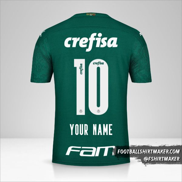 Palmeiras 2020 jersey number 10 your name