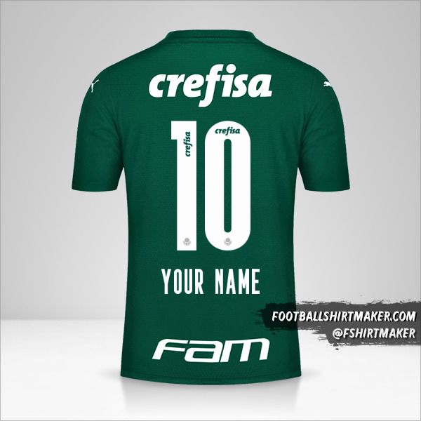 Palmeiras 2021 jersey number 10 your name