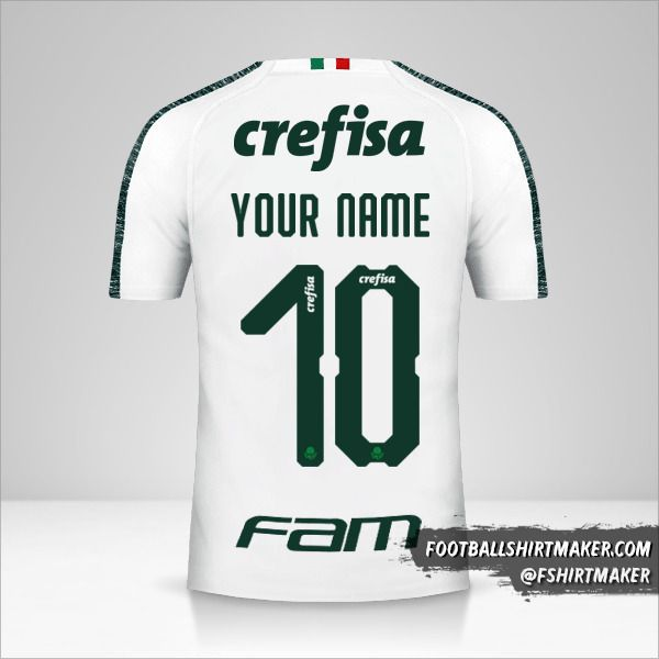 Palmeiras Libertadores 2019 II jersey number 10 your name