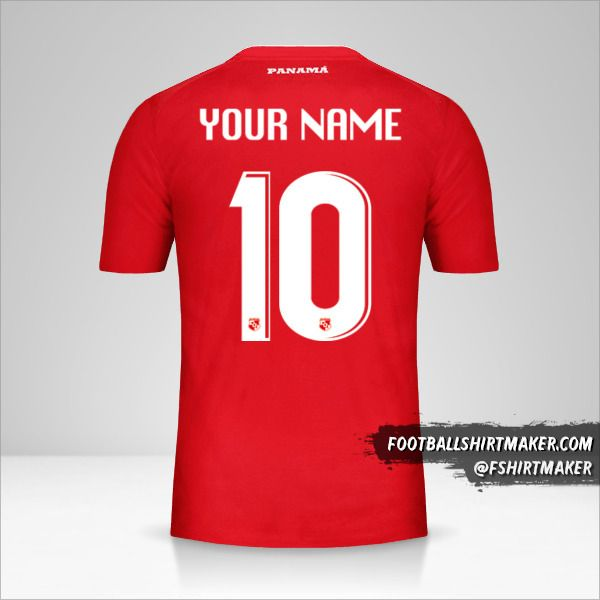 Panama 2018 jersey number 10 your name