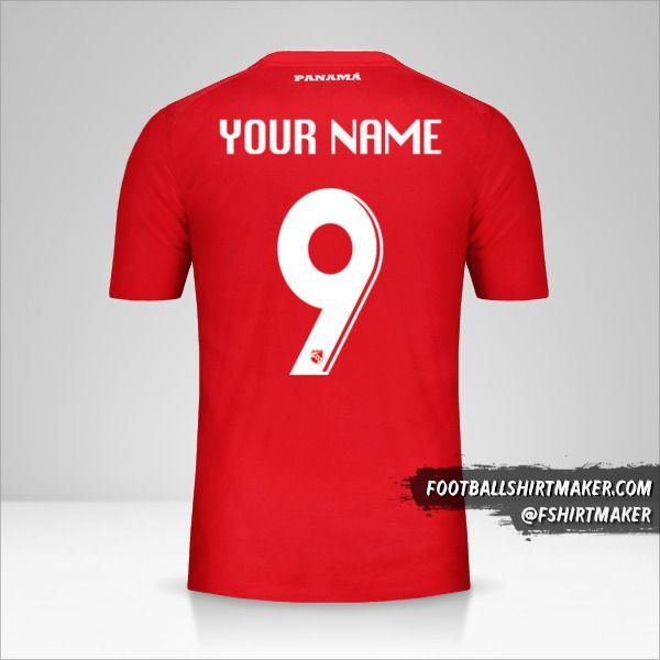 Panama jersey 2018 number 9 your name