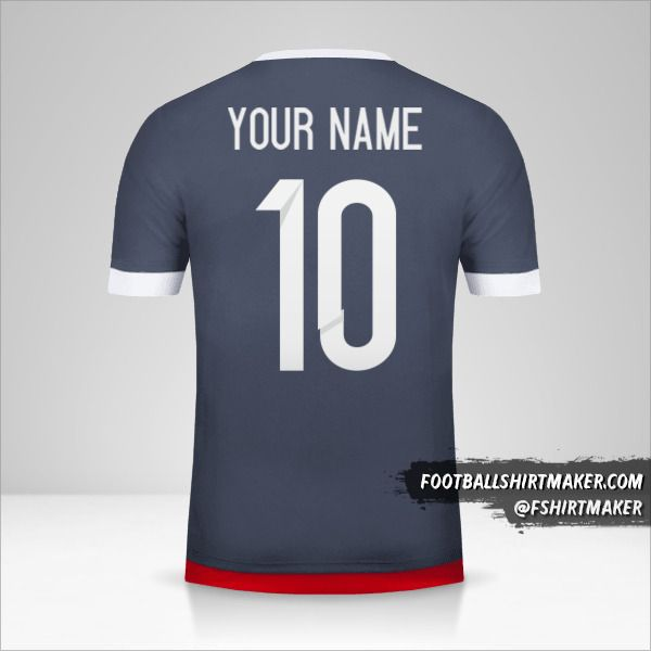 Paraguay 2015/18 II jersey number 10 your name