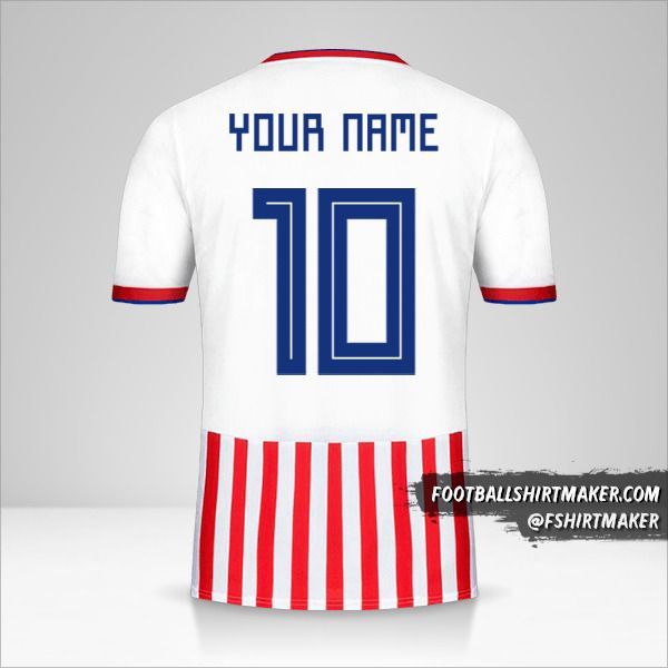 Paraguay 2018/19 jersey number 10 your name