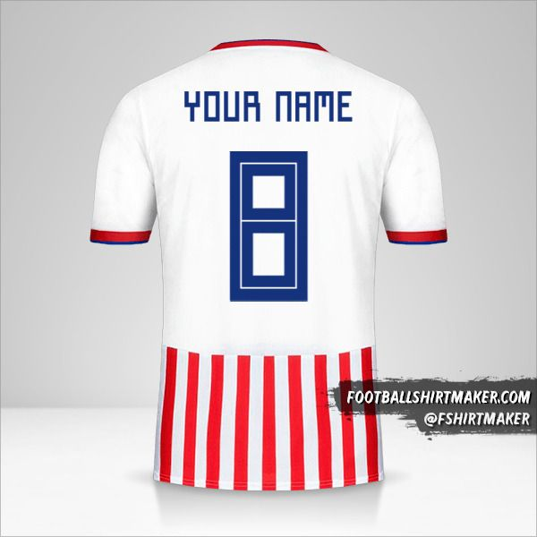 Paraguay jersey 2018/19 number 8 your name