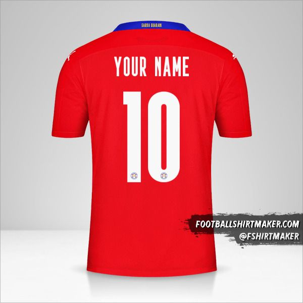 Paraguay 2020/2021 jersey number 10 your name