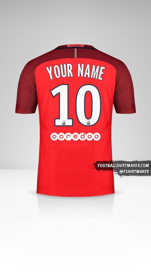 Paris Saint Germain 2016/17 II jersey number 10 your name
