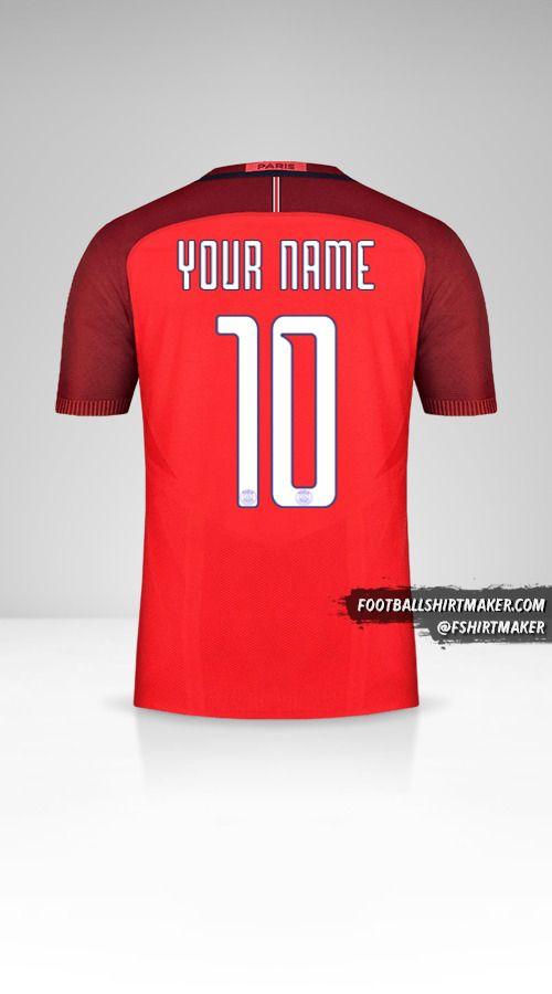 Paris Saint Germain 2016/17 Cup II jersey number 10 your name