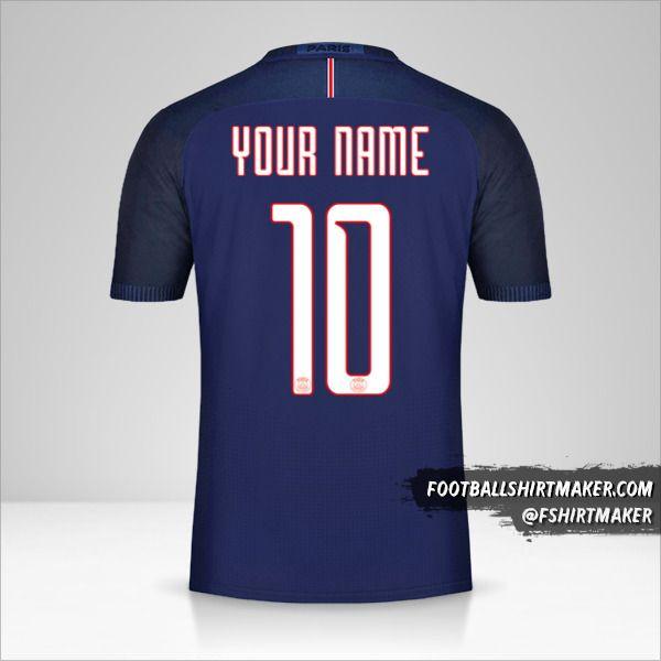 Paris Saint Germain 2016/17 Cup jersey number 10 your name