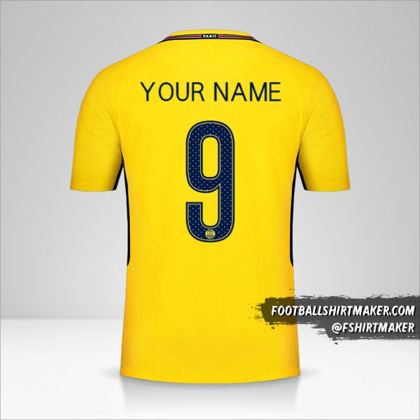 Paris Saint Germain 2017/18 Cup II jersey number 9 your name