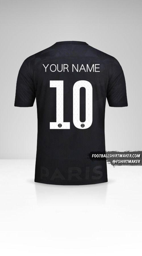 Paris Saint Germain 2017/18 Cup III jersey number 10 your name
