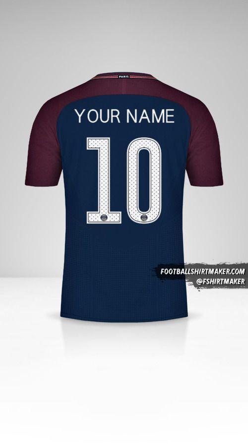 Paris Saint Germain 2017/18 Cup jersey number 10 your name