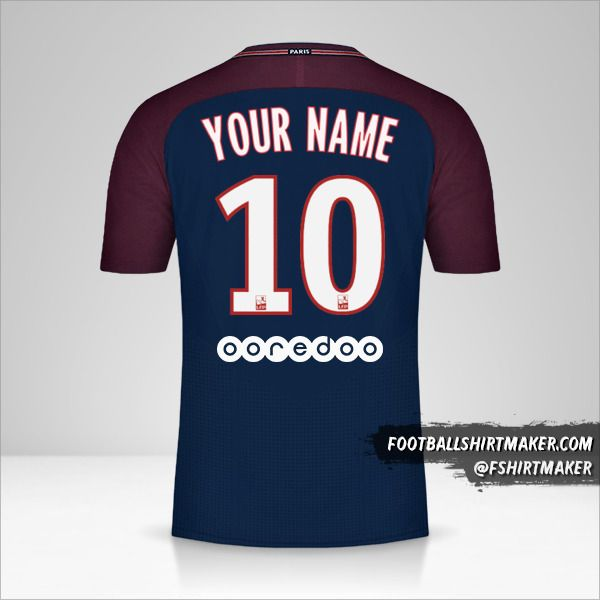 Paris Saint Germain 2017/18 jersey number 10 your name