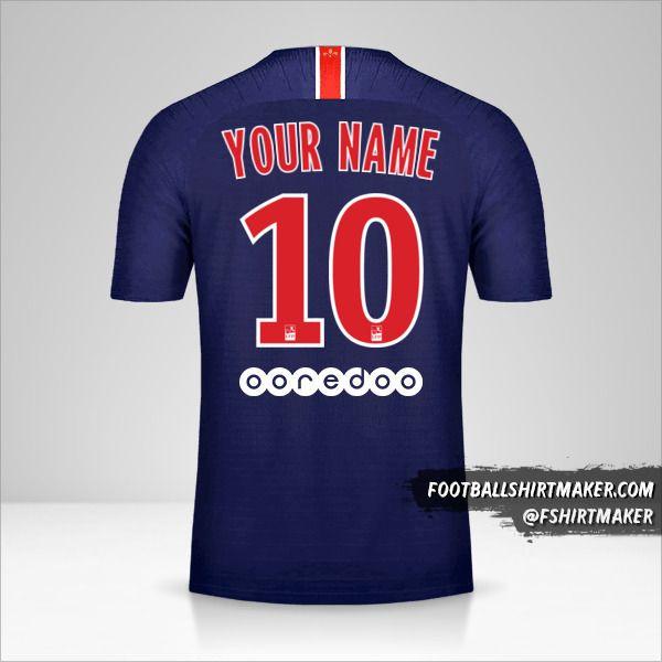 Paris Saint Germain 2018/19 jersey number 10 your name