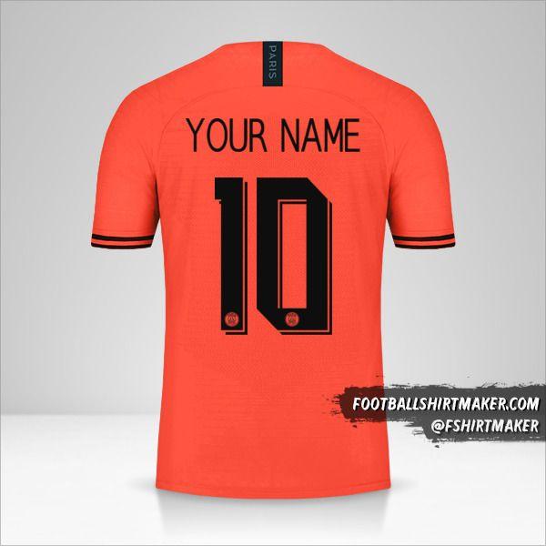 Paris Saint Germain 2019/20 Cup II jersey number 10 your name