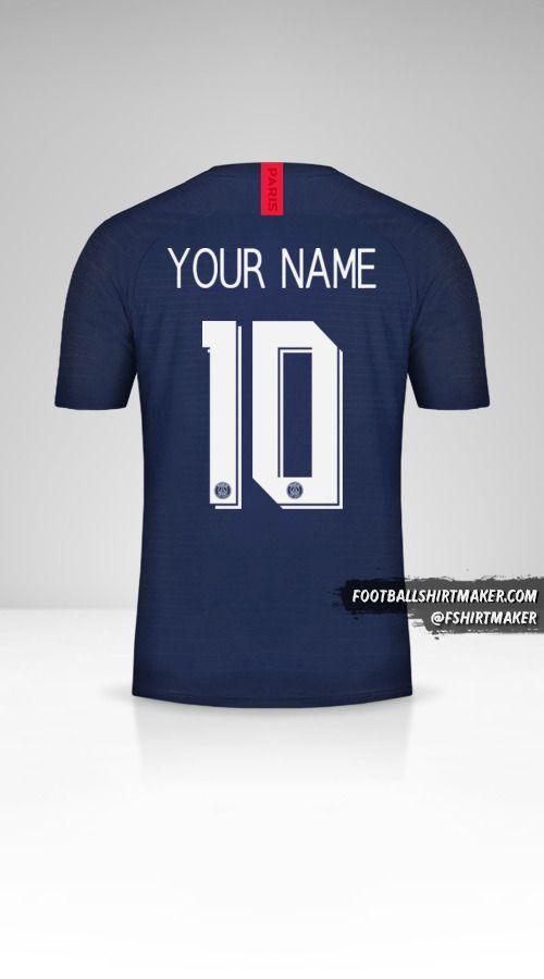 Paris Saint Germain 2019/20 Cup jersey number 10 your name