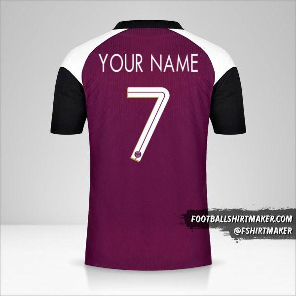 Paris Saint Germain 2020/21 Cup III jersey number 7 your name