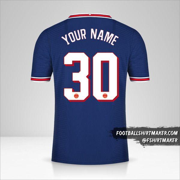 Paris Saint Germain 2021/2022 Cup jersey number 30 your name
