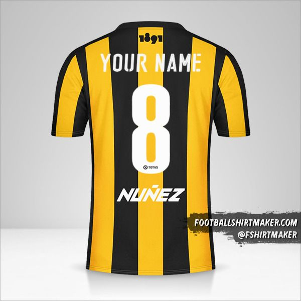 Peñarol 2016/17 jersey number 8 your name