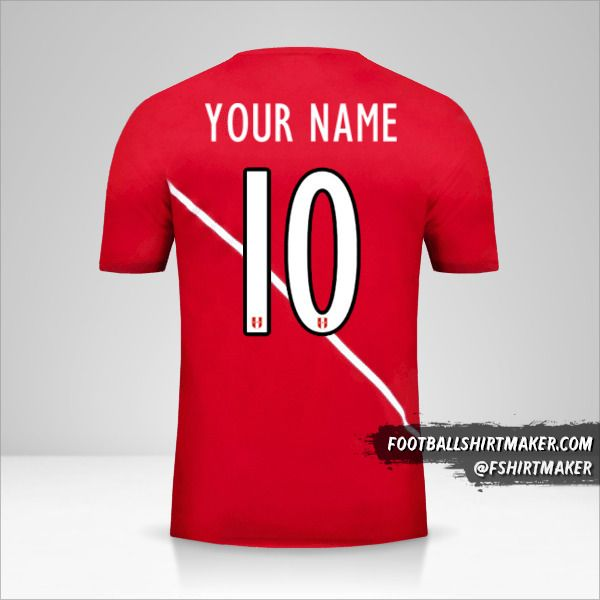 Peru 2015/16 II jersey number 10 your name